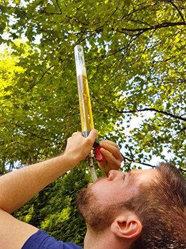 BEERZOOKA-Bierbong-05-Liter-im-freien-Fall-Trink-Party-Camping-Gadget-fr-Mnner-Partyspiel-fr-Erwachsene-Bierstrzer-Zapfanlage-Zapfhahn-Saufmaschine-Biertower-Getrnkesule-Trinksule-Biersule-Trinkspiel-