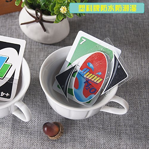 New-UNO-H2O-Waterproof-PVC-Transparent-Cystal-Clear-Family-Playing-Card