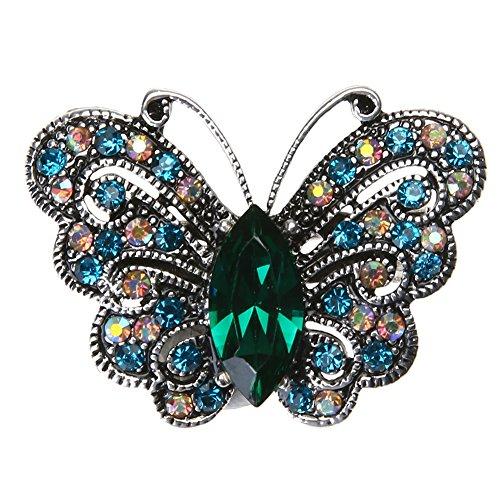Demiawaking Damen Frauen Legierungs Diamant bestückte nett Tier Kristall Brosche