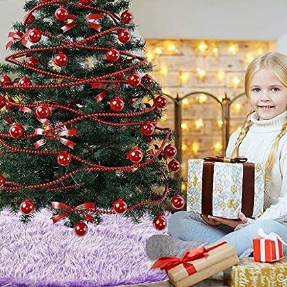 Xbeast-122cm-Weihnachtsbaumdecke-Weihnachtsdeko-Weihnachtsbaum-Rock-Lila-Plsch-Weihnachtsbaum-Decke-Weihnachtsbaum-Deko-Christbaumstnder-Teppich
