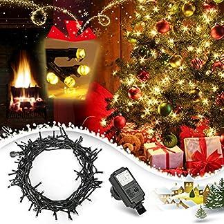 LED-Lichterkette-100er-10m-Lichterketten-Warmwei-mit-Niedrigspannung-Weihnachtsbeleuchtung-fr-die-Innen-und-Auendekoration-und-Halloween-Weihnachten-Hochzeit-Party-und-Haushalt-Deko