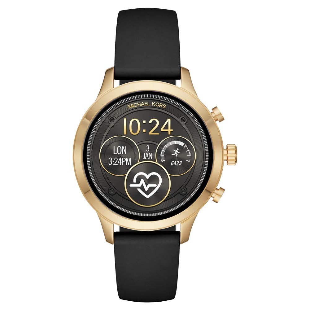 Michael-Kors-Damen-Smartwatch-mit-Silikon-Armband-MKT5053