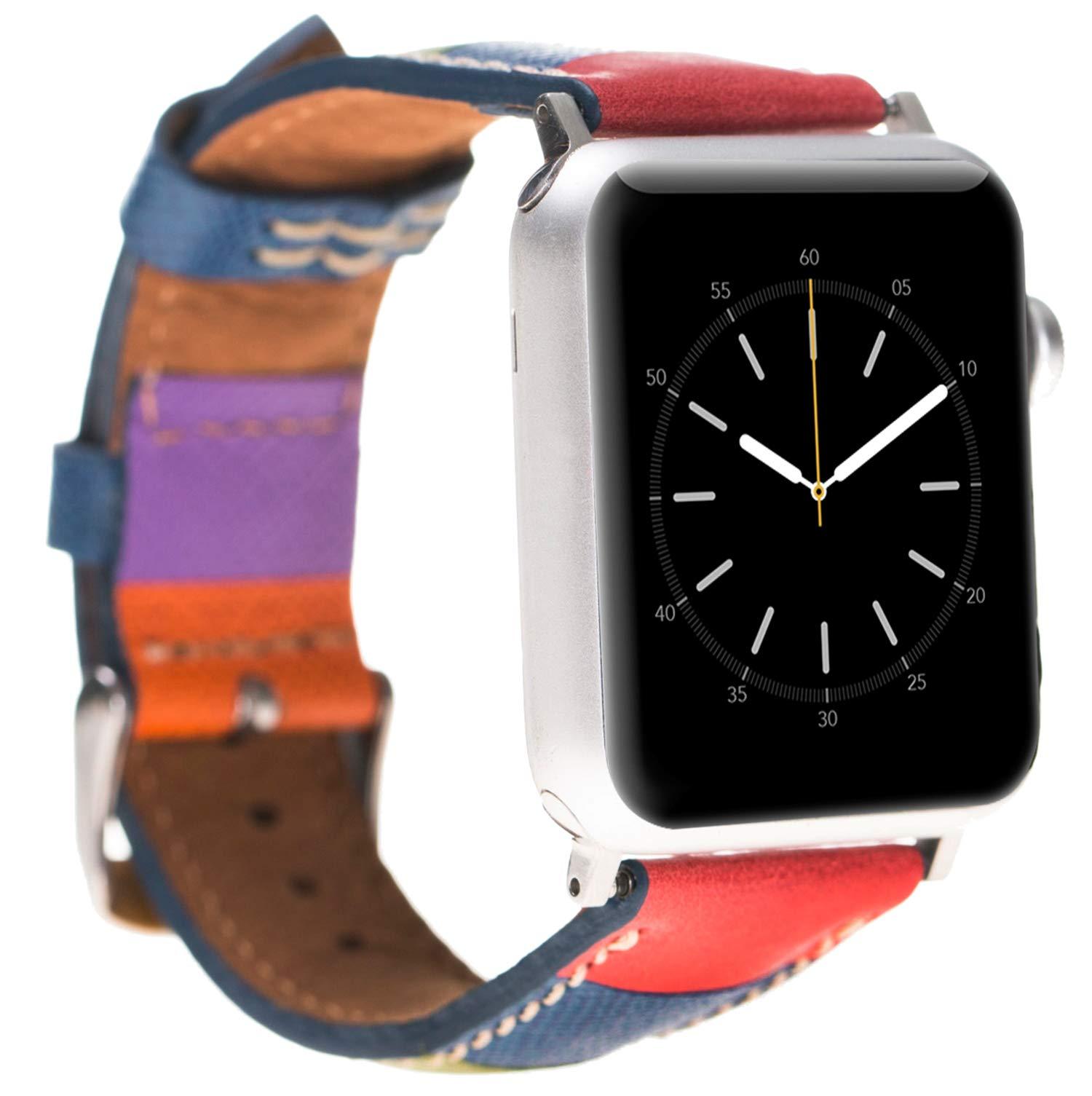 Burkley-Lederarmband-fr-Apple-Watch-12-34-Uhrenarmband-Ersatzband-inkl-42-mm-Connector-fr-die-Apple-Watch