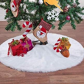 Ideapark-Plsch-Weihnachtsbaum-Rock-Christbaumdecke-Rund-Wei-Weihnachtsbaumdecke-Christbaumstnder-Teppich-Decke-Weihnachtsbaum-Deko