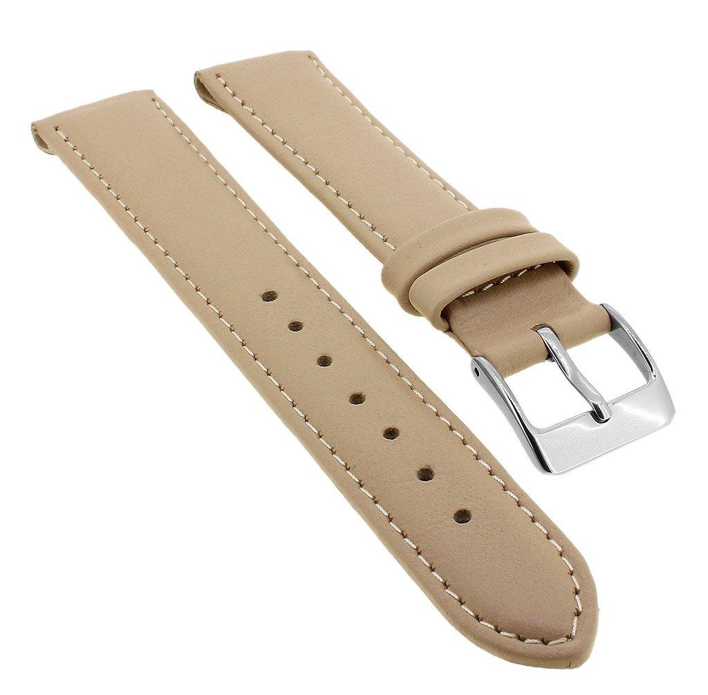 Minott-Ersatzband-Clipband-aus-Leder-in-beige-mit-Ton-in-Ton-Naht-33125-Stegbreite20mm-SchlieeSilbern