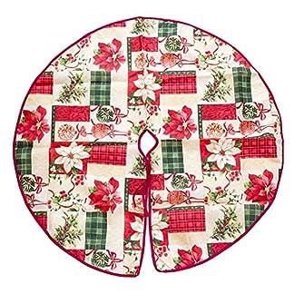 Kingmia-Christbaumstnder-Weihnachtsbaum-Plsch-Rock-Ornamente-Schneemann-Santa-Rentier-Dekoration-fr-Indoor-Outdoor-Home-Xmas-Party-Decor90cm-Printed7