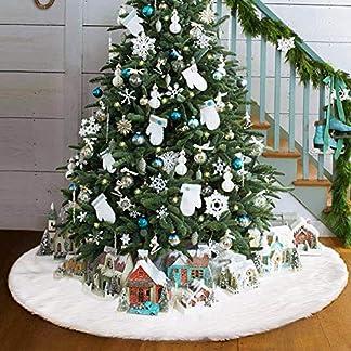 FishOaky-Baumdecke-Weihnachtsbaum-Rock-Christbaumdecke-Rund-Wei-Weihnachtsbaumdecke-Christbaumstnder-Teppich-Decke-Weihnachtsbaum-Deko-78CM