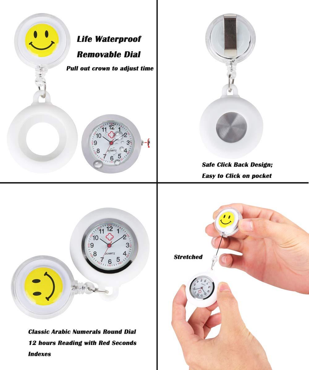 3-Stcke-Taschenuhr-Arzt-Silikon-Retractable-Quarz-Taschenuhren-mit-Knopfbatterie-Uhr-Geschenk-fr-Mnner-Frauen-Wei-Blau-Schwarz