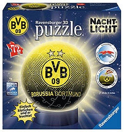 Ravensburger-11803-BVB-09-Borussia-Dortmund-Nachtlicht-puzzleball-3D-72-Teile-Puzzle