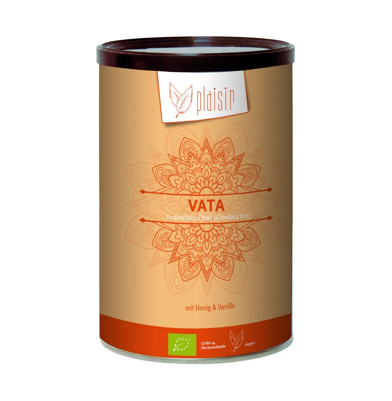 Plaisir-Bio-Chai-Pulver-Indischer-Gewrztee-Vata-350-gr-Dose-Consumer-Bio-zertifiziertes-Getrnkepulver-mit-Schwarztee-und-natrlichem-Honigaroma