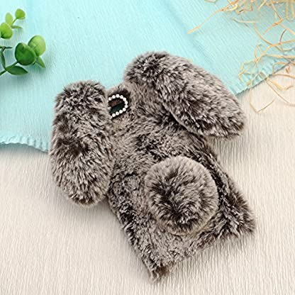 SevenPanda-Sony-Xperia-XZ-Premium-Handmade-Silikon-Weich-Soft-Fell-Plsch-Wolle-Warm-Fluffy-Flauschige-Zotten-Kaninchen-Rabbit-Pelz-Haar-Hair-Handy