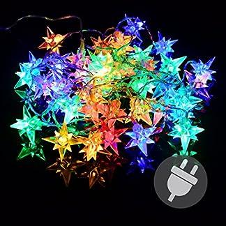 Nipach-GmbH-40er-LED-Sternenlichterkette-bunt-fr-Innen-Aussen-Trafo-transparentes-Kabel-Sternenkette-Weihnachtssternkette-Weihnachtsdeko-Xmas