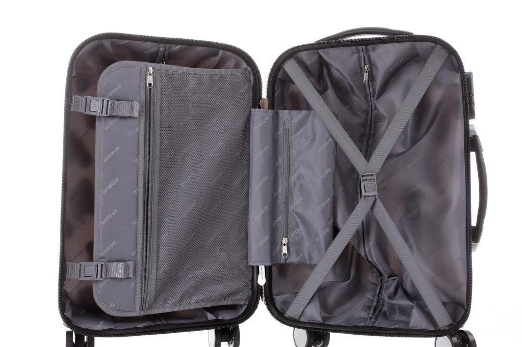 BEIBYE-Polycarbonat-Hartschale-Koffer-2060-Trolley-Reisekoffer-Reisekofferset-Beutycase-3er-oder-4er-Set