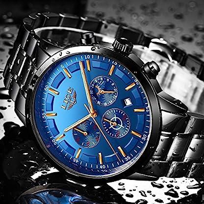 Herren-Edelstahl-blau-Classic-Luxus-Casual-Uhren-mit-Multifunktional-Chronograph-Sport-Uhren-wasserdicht-30-m-Moon-Phase-Business-Fashion-Quartz-Armbanduhr-fr-Herren
