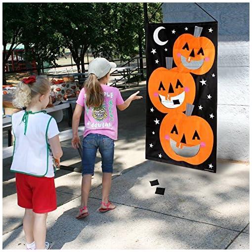 AerWo-Halloween-Krbis-Spiel-Hngende-Art-Krbis-Bohnenbeutel-Toss-Spiel-3-Bohnenbeutel-Halloween-Party-Cornhole-Party-Spiele-fr-Kinder-und-Erwachsene-76X138cm