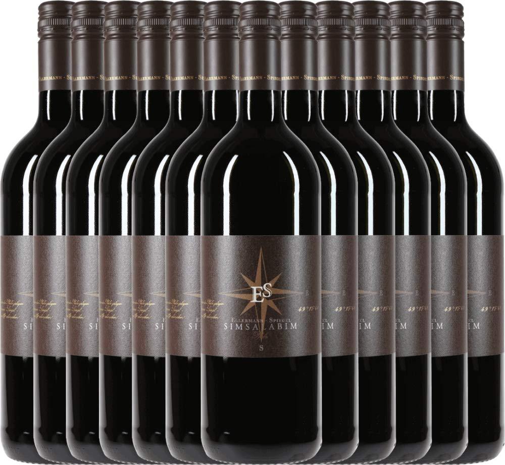 12er-Paket-Cuve-Simsalabim-10-l-2016-Ellermann-Spiegel-trockener-Rotwein-deutscher-Wein-aus-der-Pfalz-12-x-100-Liter
