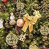 FeiliandaJJ-6Pcs-Gold-Weihnachtskugel-Weihnachtsdeko-Kugeln-Weihnachtsbaum-Ornament-Dekoration-Weihnachten-Anhnger-Party-Home-Schlafzimmer-Deko-6CM