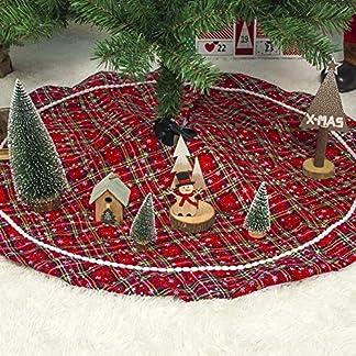 keng-2020-Rot-Weihnachtsbaumrock-Karierter-Weihnachtsbaum-Rock-Weihnachtsbaumdecke-Baumdecke-Christbaumstnder-Decke-Weihnachtsschmuck-Weihnachtsdeko-100CM