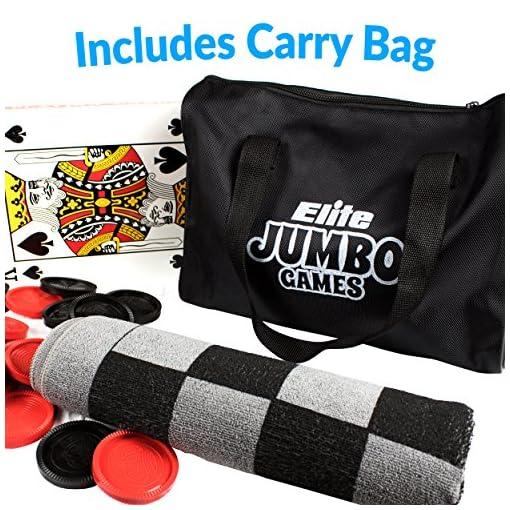 Elite-Sportz-Jumbo-3-in-1-Teppich-Spiel-Tic-Tac-Toe-Dame-und-XXL-Spielkarten-Stundenlangen-Spielspa-garantiert-sie-werden-es-lieben-Inklusive-strapazierfhige-ZipUp-Tragetasche-zur-Aufbewahrung