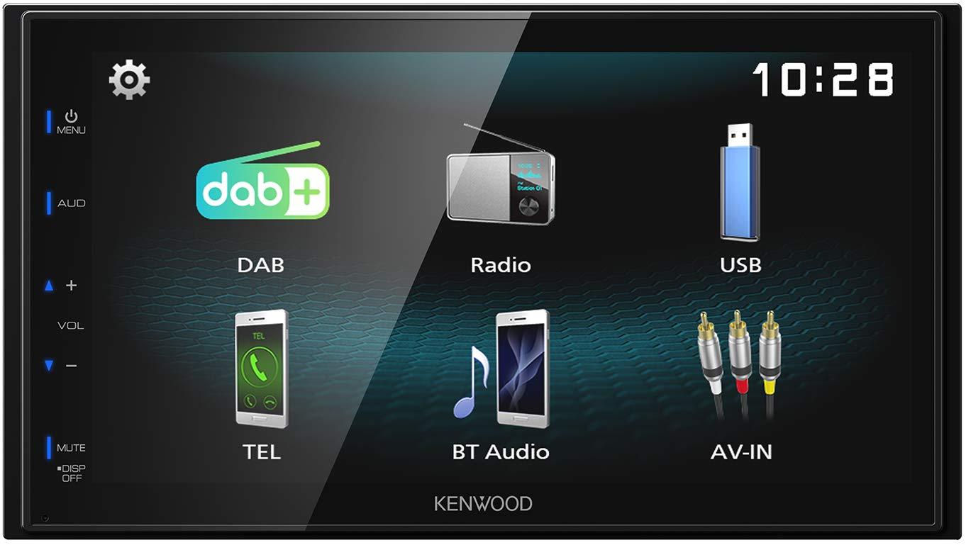 Kenwood-DMX125DAB-173-cm-WVGA-Digital-Media-Receiver-mit-DAB-Bluetooth-und-Android-USB-Mirroring