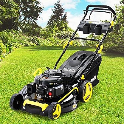Rasenmher-Benzin-Craftfull-Premium-5in1-6-Ps-44-kw-196cc-Motor-mit-62L-Grasfangkorb-und-53cm-Schnittbreite-GT-Markengetriebe-und-Selbstantrieb