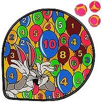Unbekannt-Set-Dart-Spiel-Dartscheibe-incl-3-Klettblle-Looney-Tunes-Wurfspiel-fr-Kinder-Erwachsene-OHNE-Spitze-drinnen-und-drauen-Spiel-Dartspiel