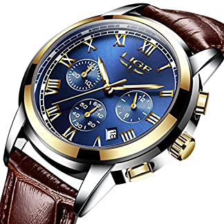 Blue-Face-Fashion-Casual-Herren-Armbanduhr-mit-Leder-Uhr-Band-Chronograph-Herren-Sport-Uhren-wasserdicht-30-m-Auto-Datum-Armbanduhr-Analog-Quarz