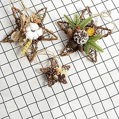 Kapmore-Weihnachtskranz-Weihnachten-Hngende-Verzierung-Kreative-Rattan-Sternform-Trkranz-Hngen-Dekor