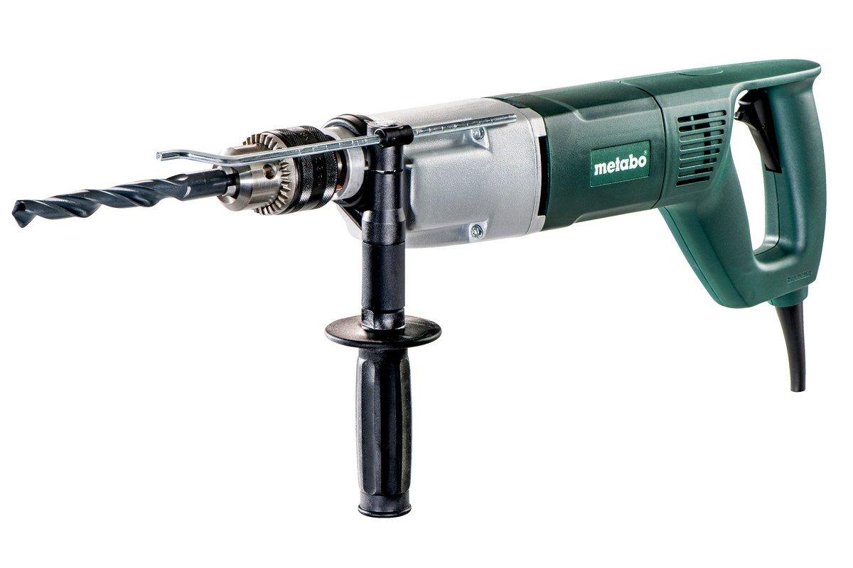 Metabo-600806000-Bohrmaschine-BDE-1100-Zahnkranzfutter-Schlssel-langer-Handgriff-Tiefenanschlag-Vario-Elektronik-Zweiganggetriebe-S-automatic-1100-W-Drehmoment-5522-Nm-3-kg