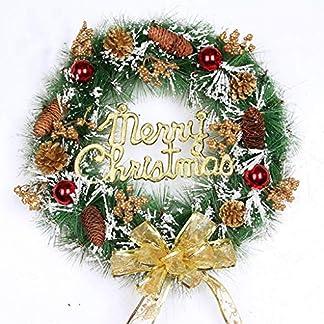 ZXPAG-Weihnachtsdeko-Tischkranz-Weihnachten-Kranz-fr-drinnen-und-drauen-DIY-zum-Aufhngen-an-Tren-Wnden-Treppen-Hochzeitsdekoration