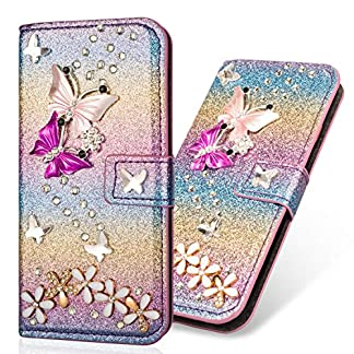 Stand-Funktion-Glitter-Diamond-Sparkle-Bling-Glitzer-fr-Samsung-A70