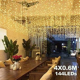 4M-x-06M-LED-Lichtervorhang-Avoalre-144-LEDs-Lichterkette-Vorhang-max-13-Stze-Erweiterbar-mit-Stecker-8-Modi-Helles-Warmwei-fr-Innen-Auen-Neujahr-Weihnachten-Feiertag-Party-Hochzeit-Deko