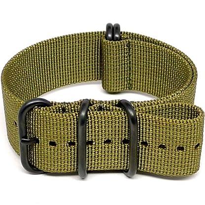 DaLuca-Ballistic-Nylon-NATO-Watch-Strap-Olive-PVD-Buckle-24mm