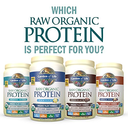 Garden of Life Bio veganes Proteinpulver mit Vitaminen und Probiotika–Protein Shake zuckerfrei, Schokolade, 10Stück