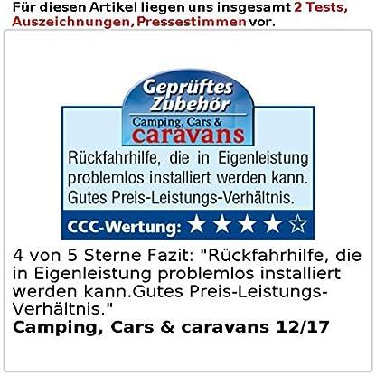 Lescars-Einparkhilfe-Farb-Rckfahrkamera-im-Nummernschildhalter-m-Monitor-Abstandswarner-Rckfahrkameras-mit-Monitoren