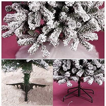 DWHX-Schnee-Effekt-Scharnier-Christbaum-Schnee-Strmten-Scharnier-Knstlicher-Weihnachtsbaum-Kiefer-Metallstnder