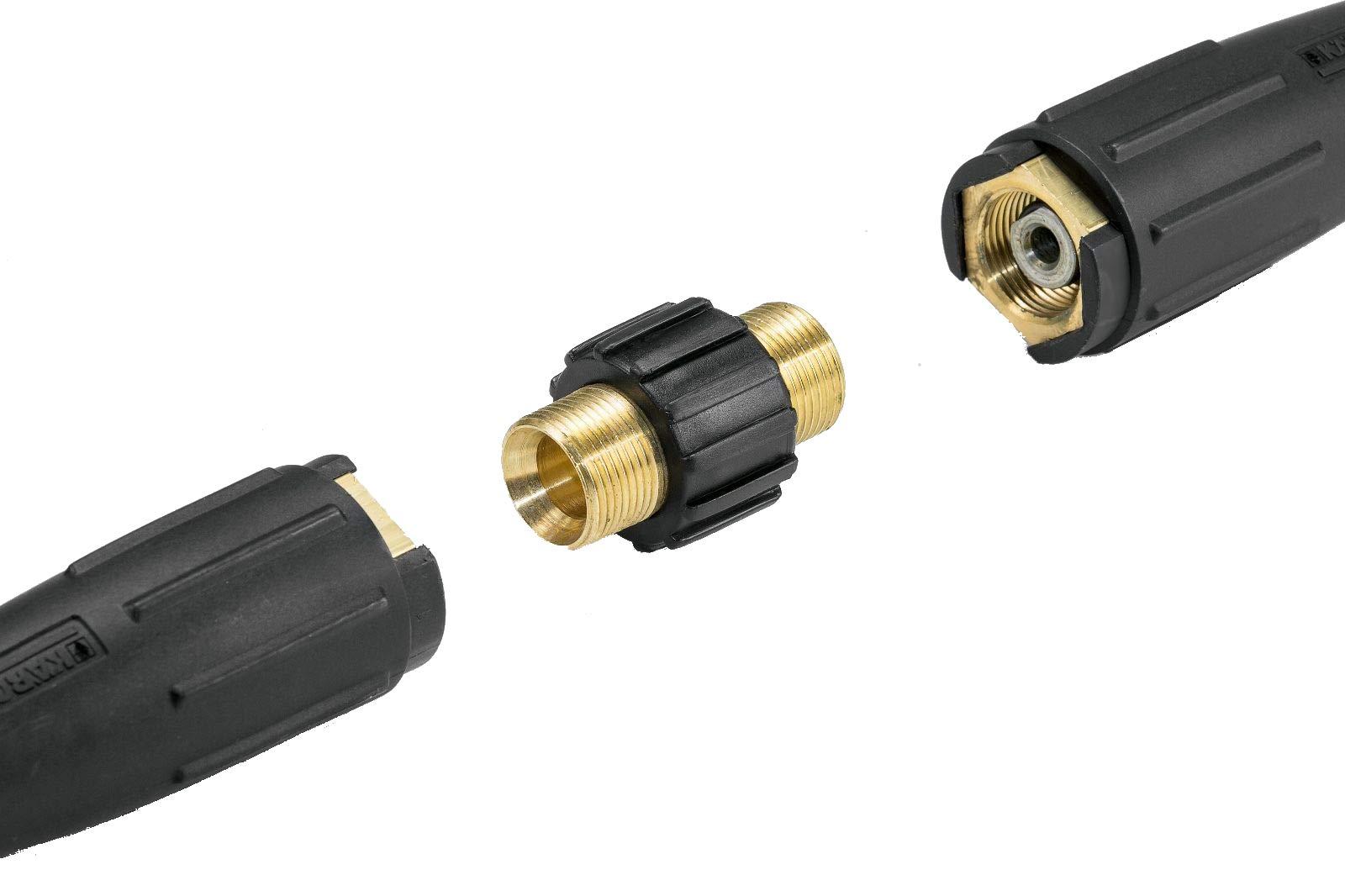 Schlauchverbinder-PremiumPlus-fr-Hochdruckschluche-von-Krcher-und-Krnzle-Hochdruckreiniger-HD-HDS-mit-M22-Gewinde-wie-4403-0020-von-ONE-Made-in-Germany