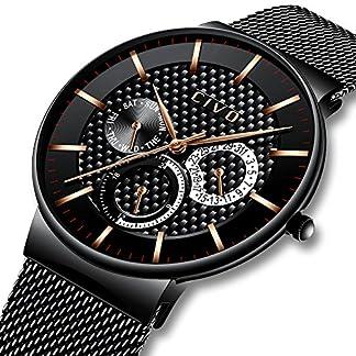 CIVO-Herren-Schwarz-Uhr-Multifunktions-Datum-Kalender-Wasserdicht-Quarzuhr-Mode-Luxus-Lssige-Luxus-Sport-Armbanduhr-fr-Jugendliche-Herren-Edelstahl-Mesh-Armband-mit-Federstegwerkzeu
