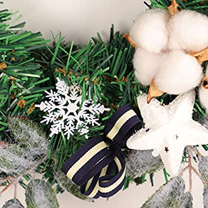 BESTOYARD-Weihnachten-Pine-Berry-Cotton-Boll-Kranz-Herbst-Herbst-Thanksgiving-Tr-Kranz-Ernte-Dekoration