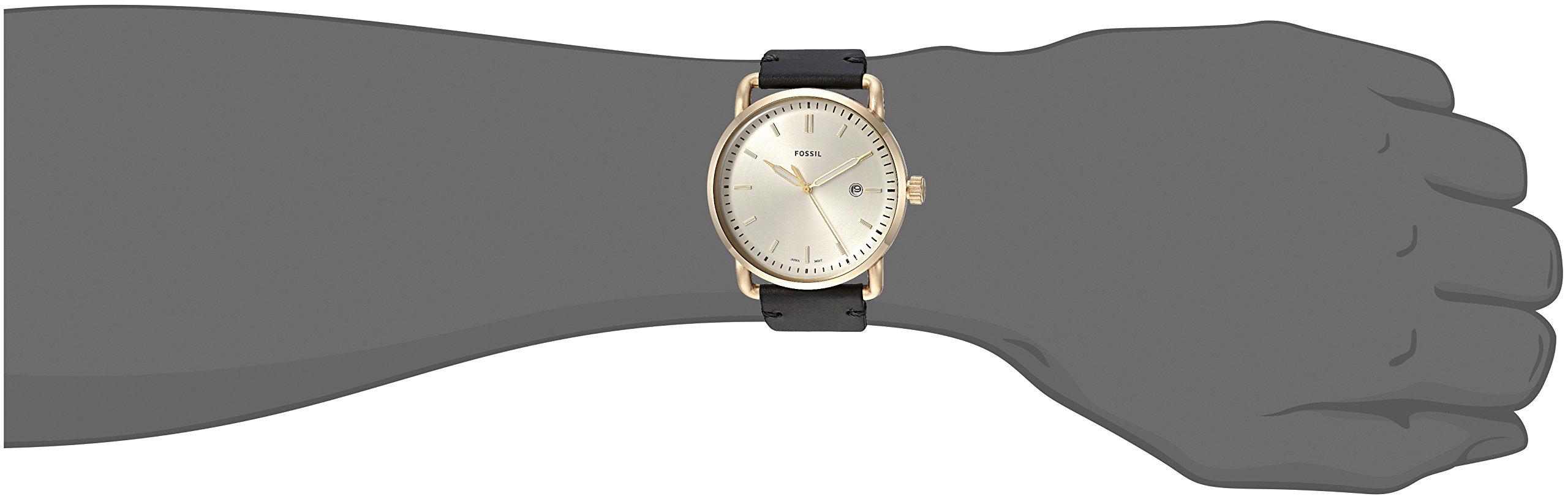 Fossil-Herren-Analog-Quarz-Uhr-mit-Leder-Armband-FS5387