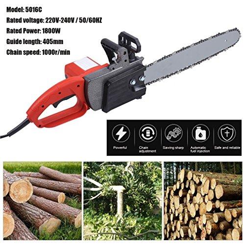 Sweepid-Elektrische-Kettensge-1800W-220-240V-405mm-Schnittlnge-Motorsge-Kettenschmierung-Kabelzugentlastung-Kettenbremse-Schwert-Kette
