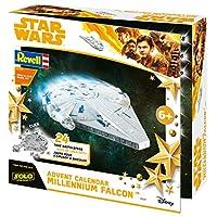 Revell-BuildPlay-01017-Adventskalender-Millennium-Falcon-Star-Wars-Disney-SOLO-24-Tage-cooler-Bastelspa-der-Bausatz-mit-dem-Stecksystem-fr-Kinder-ab-6-Jahre-bauen-und-spielen
