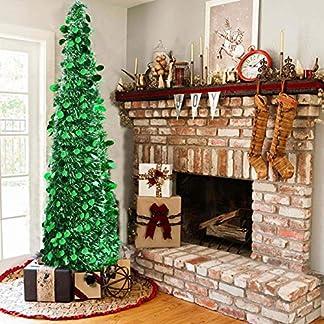 Vohoney-Knstliche-Weihnachtsbume-Weihnachtsbaum-Knstlich-Weihnachtsdeko-Baum-Dekobaum-Kunstbaum-mit-Stnder-Christbaum-150CM-PVC-Weihnachtsbaum-Tannenbaum-Christbaum