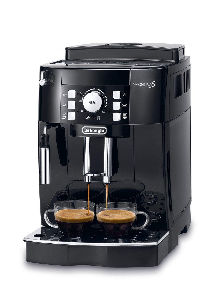 DeLonghi-Magnifica-S-ECAM-21116B-Kaffeevollautomat-Direktwahltasten-und-Drehregler-Milchaufschumdse-Kegelmahlwerk-13-Stufen-Herausnehmbare-Brhgruppe-2-Tassen-Funktion-schwarz