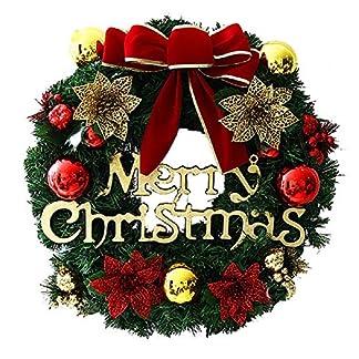Kentop-Weihnachtsgirlande-Weihnachten-knstliche-grn-Tannengirlande-mit-Merry-Christmas-Weihnachtsdekoration-fr-Fenster-Weihnachtsbaum-Kamine-Treppen