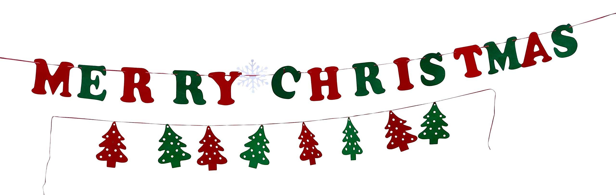 2x-Weihnachts-Girlande-3-Meter-1x-Weihnachtsbume-1x-Merry-Christmas-Filz-rot-grn-Weihnachtsgirlande-zum-Selbstgestalten-DIY-Adventsgirlande-Weihnachten-Deko-Fenstergirlande