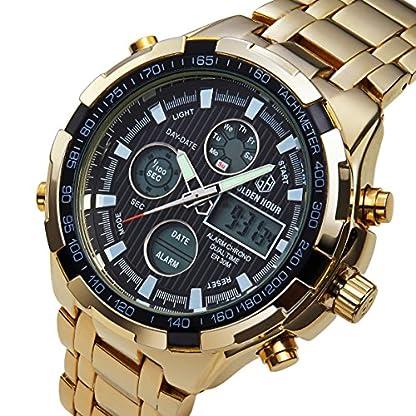 Herren-Gold-Edelstahl-Sport-Analog-Quarz-Armbanduhr-Dual-Display-Wasserdicht-Digital-Uhren-mit-LED-Hintergrundbeleuchtung-Multifunktional-Gro-Handgelenk-Uhren-fr-Mnner