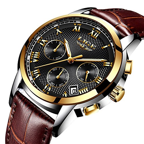 Herren-Uhren-Wasserdicht-Quarz-Uhren-Business-Casual-Sport-Design-Analog-Datum-Armbanduhr-Watch-Gifts