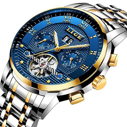 Herren-Uhren-Top-Marke-Luxus-Lige-Automatik-Mechanische-Uhr-Herren-Wasserdicht-Full-Stahl-Armbanduhr