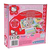 Clementoni–62139–Gesellschaftsspiel–Koffer–30-Spielesammlung-Hello-Kitty
